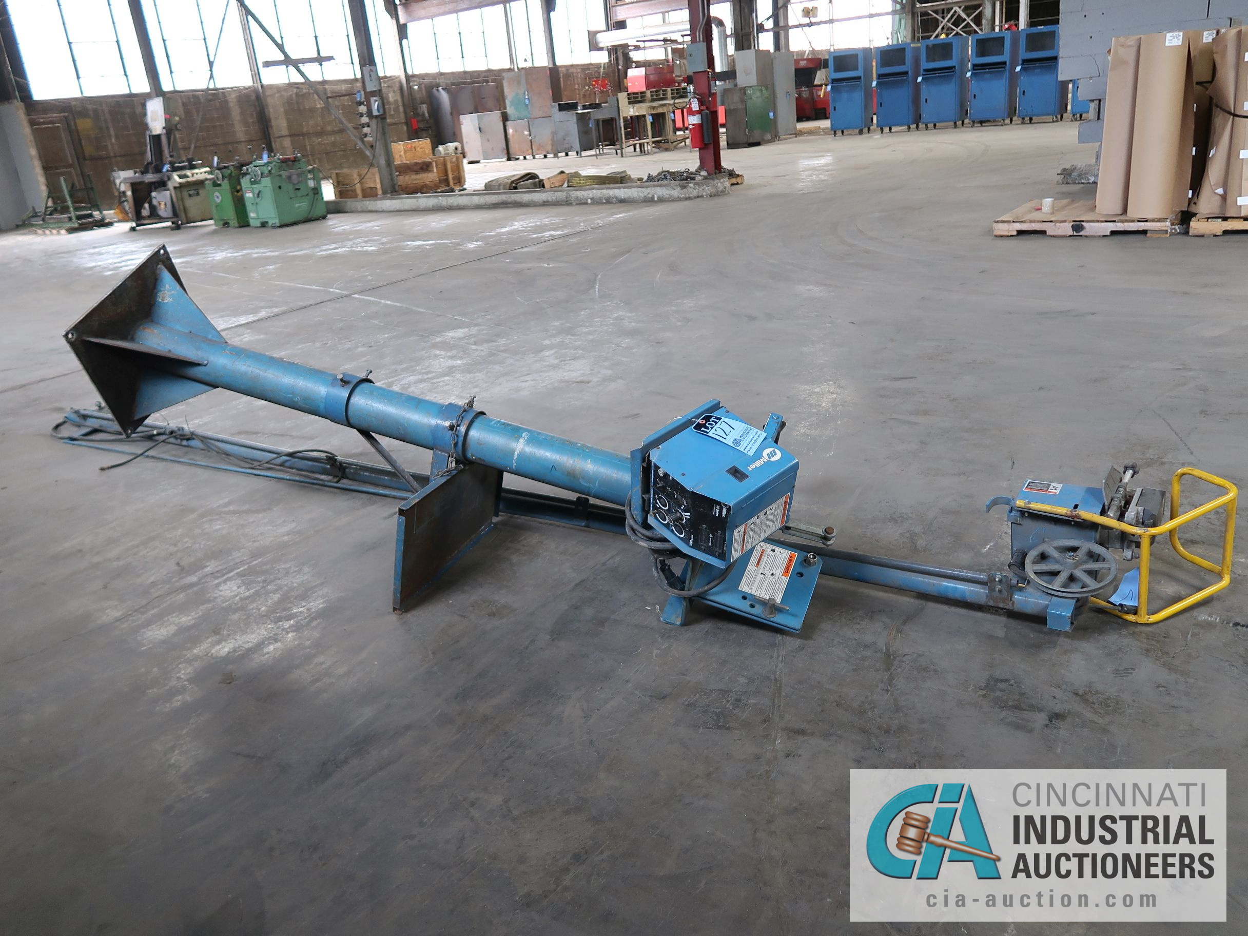 16' MILLER WELDING BOOM WITH 60 SERIES WIRE FEED & 6' H PEDESTAL