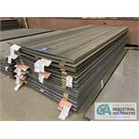 (LOT) APPROX. 40,034 LBS. UNCOATED SHEET STEEL, 1-STACK, 15-BUNDLES, SEE INVENTORY FOR LISTING.