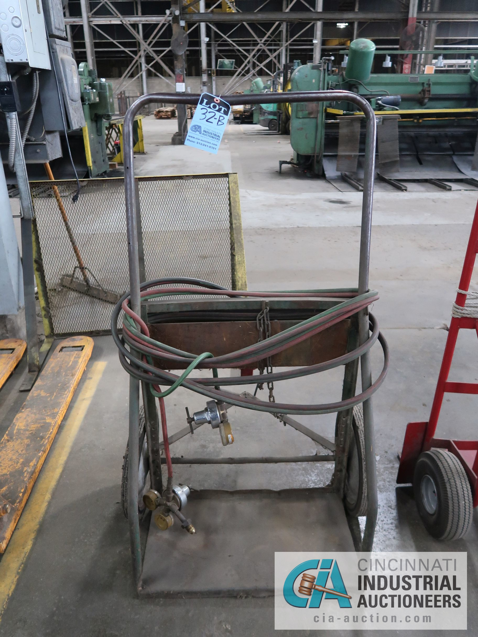 TORCH CART WITH REGULATOR AND HOSE