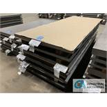 (LOT) APPROX. 20,110 LBS. UNCOATED SHEET STEEL, 1-STACK, 6-BUNDLES, SEE INVENTORY FOR LISTING.
