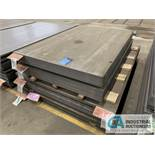 (LOT) APPROX. 24,248 LBS. UNCOATED SHEET STEEL, 1-STACK, 5-BUNDLES, SEE INVENTORY FOR LISTING.