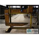 """20 TON CALDWELL MODEL 82-20-72 C-FRAME CRANE COIL HOOK; S/N 07818, 57"""" THROAT WITH STAND"""