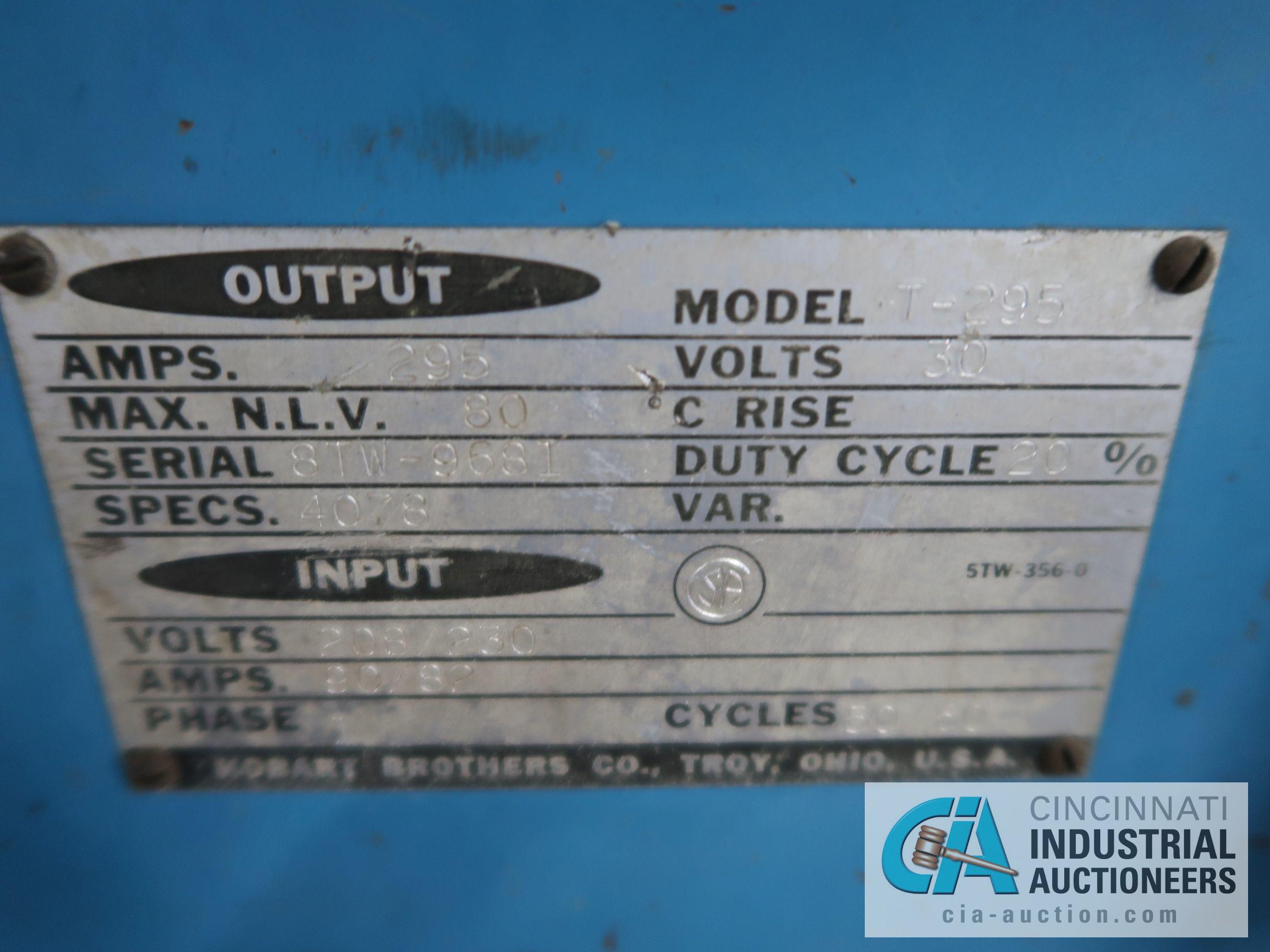 295 AMP HOBART WELDER - Image 2 of 2