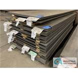 (LOT) APPROX. 37,238 LBS. UNCOATED SHEET STEEL, 1-STACK, 11-BUNDLES, SEE INVENTORY FOR LISTING.