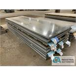 (LOT) APPROX. 37,353 LBS. COATED SHEET STEEL, 1-STACK, 4-BUNDLES, SEE INVENTORY FOR LISTING.