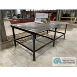 "6' X 10' X 45"" STEEL LAYOUT TABLE"