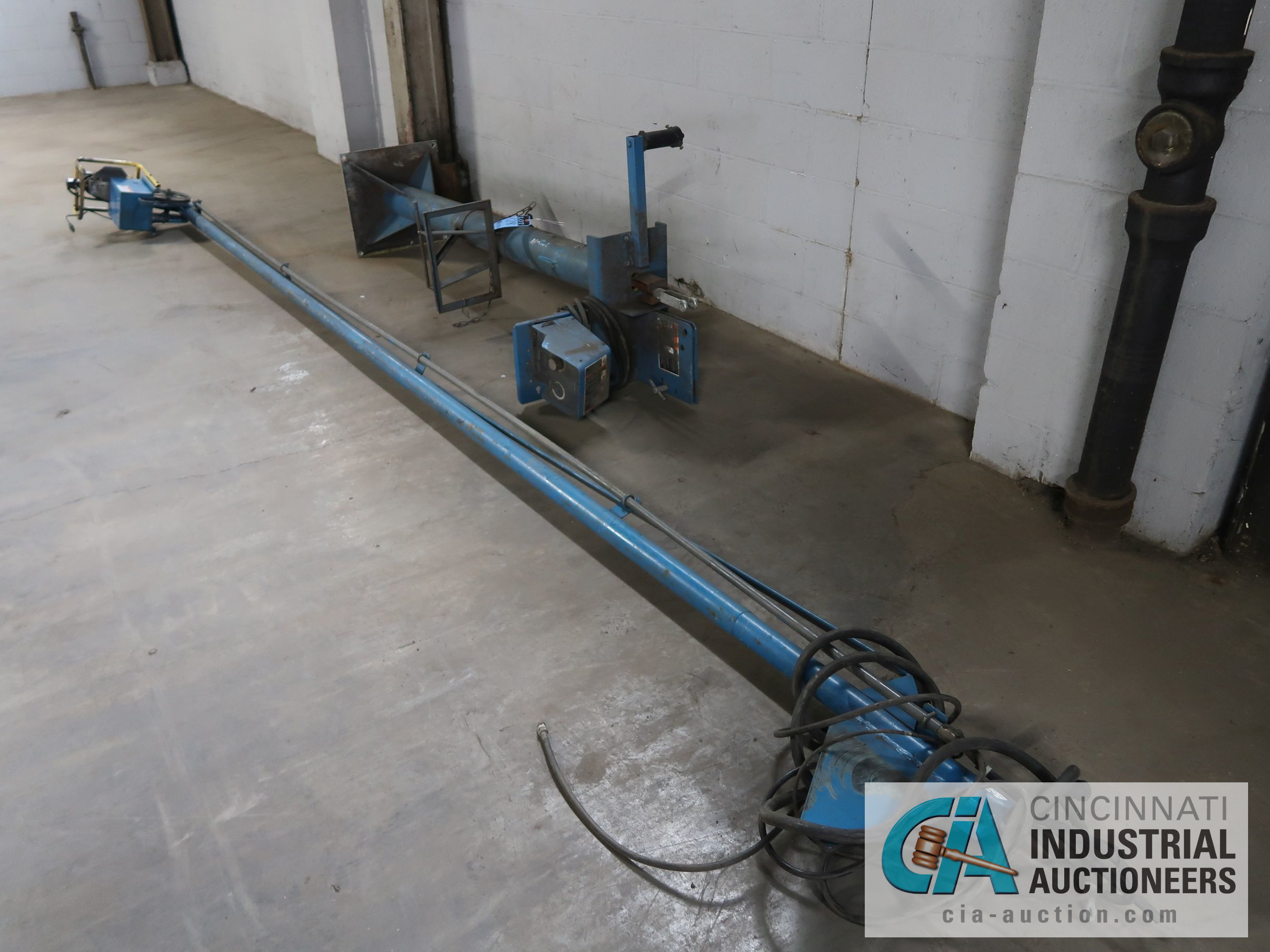 16' MILLER WELDING BOOM WITH 70 SERIES WIRE FEED & 6' H PEDESTAL