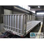 2004 - 45' TRANSCRAFT MODEL EAGLE S2 45' X 96 ALUMINUM DECK STEEL BEAM TANDEM AXLE FLAT BED TRAILER;