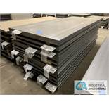 (LOT) APPROX. 41,375 LBS. UNCOATED SHEET STEEL, 1-STACK, 12-BUNDLES, SEE INVENTORY FOR LISTING.