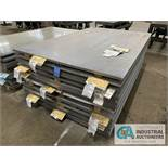 (LOT) APPROX. 30,372 LBS. COATED SHEET STEEL, 1-STACK, 8-BUNDLES, SEE INVENTORY FOR LISTING.