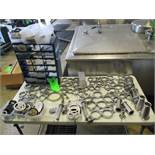 LOT OF tri-clamps, blank plate, site glasses, gasket, 8- 2 in , 1- 4 in, 7- 3 in, 13- 1.5 in ***