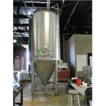 Glacier 40 bbl fermentation tank, serial GT-C-104, MW-SHDLSS-580-480-SS304, 64 in dia x approx. 15