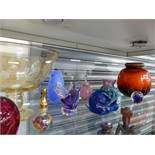 VARIOUS ART GLASS ETC.