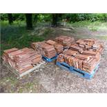 APPROX 300-400 FRENCH TERRACOTTA ROOF TILES.