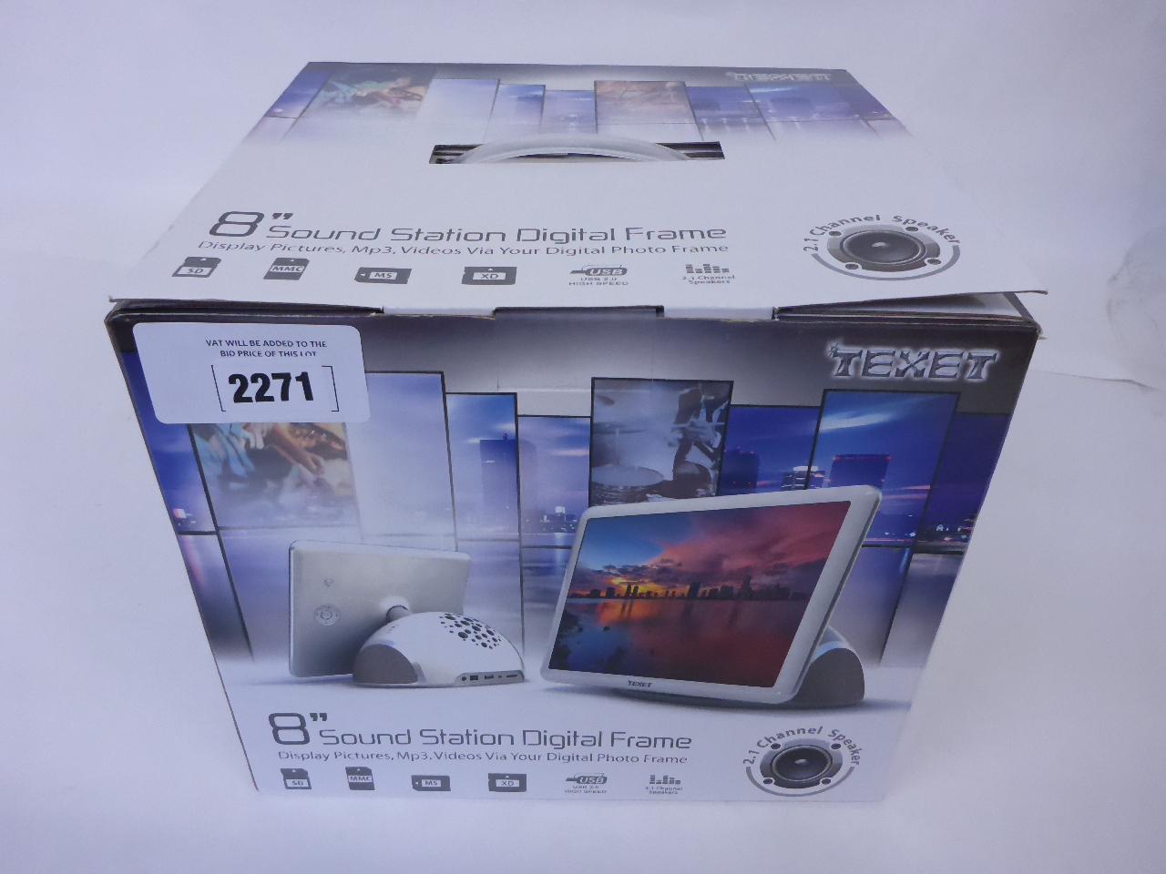 Texet 8\'\' sound station digital frame
