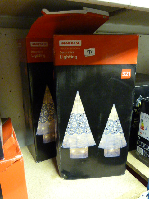 2 Homebase Decorative Lighting Christmas Decorations