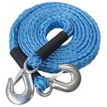 + VAT Brand New Four Metre Tow Rope With Shackle Hooks - Extremely Strong Polypropylene Rope