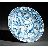 KLEINE SCHALE Blauweißes Porzellan, China. Ming-Dynastie, Wanli (1573 - 1619)Diese Schale trägt