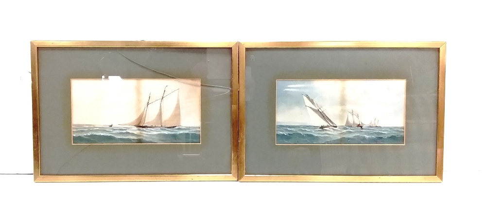 Lot 56 - Pair of Water Colour Seascapes by CH Lewis