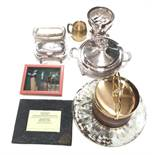 Misc Lot of Silver Plate, Ice Bucket,