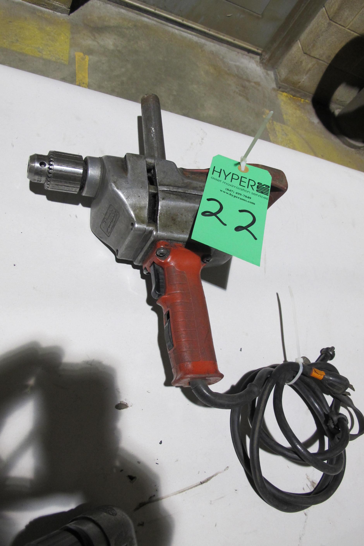 """Lot 22 - Milwaukee 1/2"""" Heavy Duty drill"""