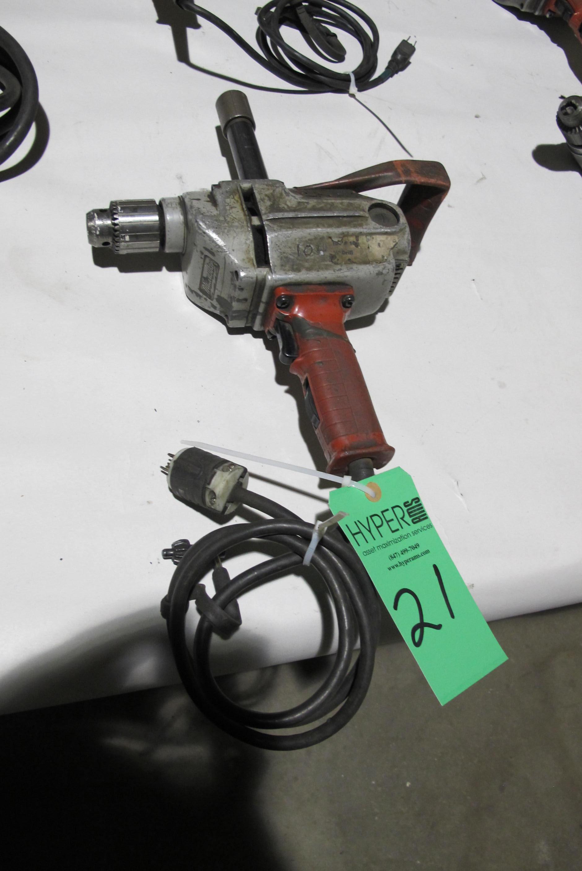 """Lot 21 - Milwaukee 1/2"""" Heavy Duty drill"""