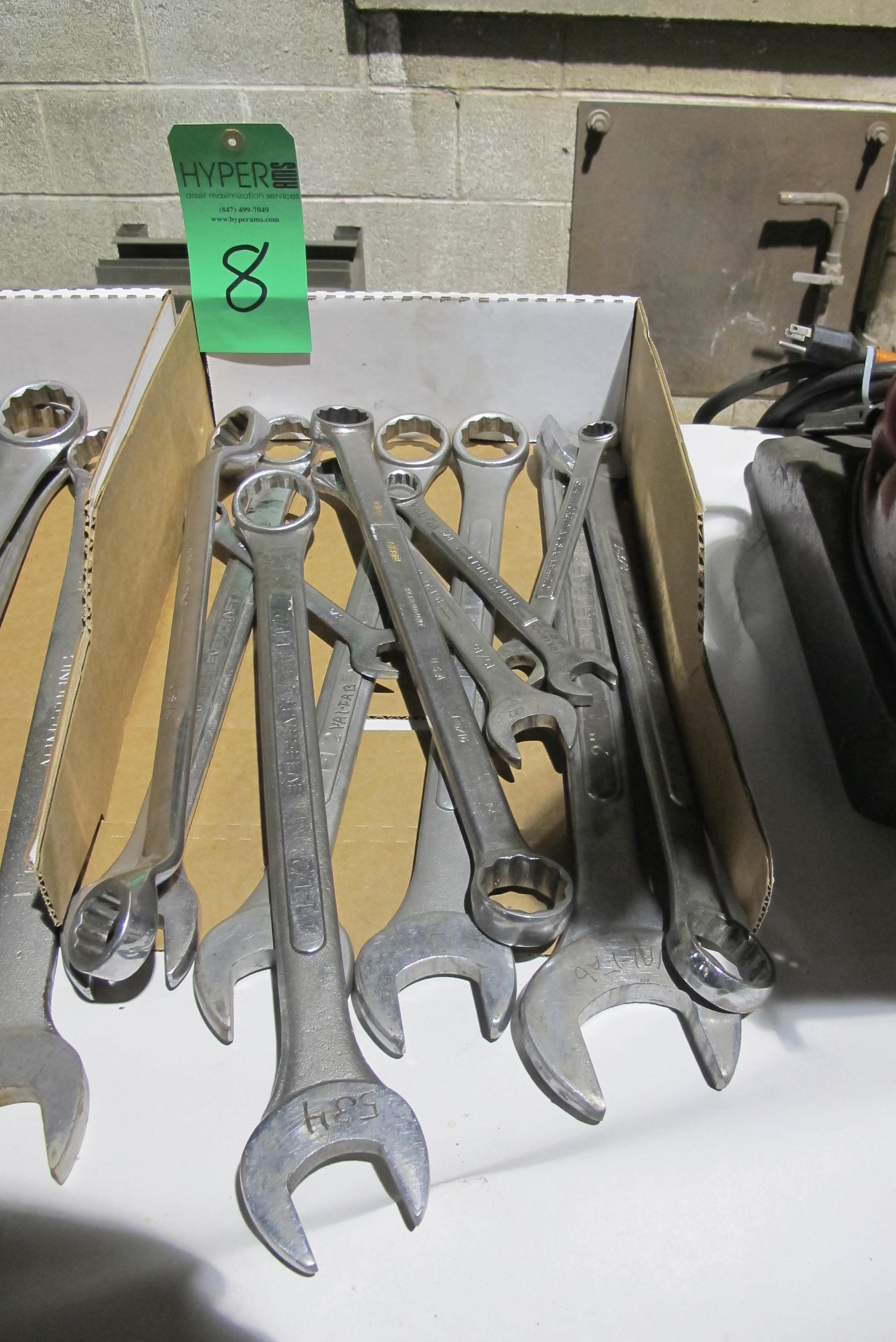 Lot 8 - Heavy Duty open & closed end wrenches