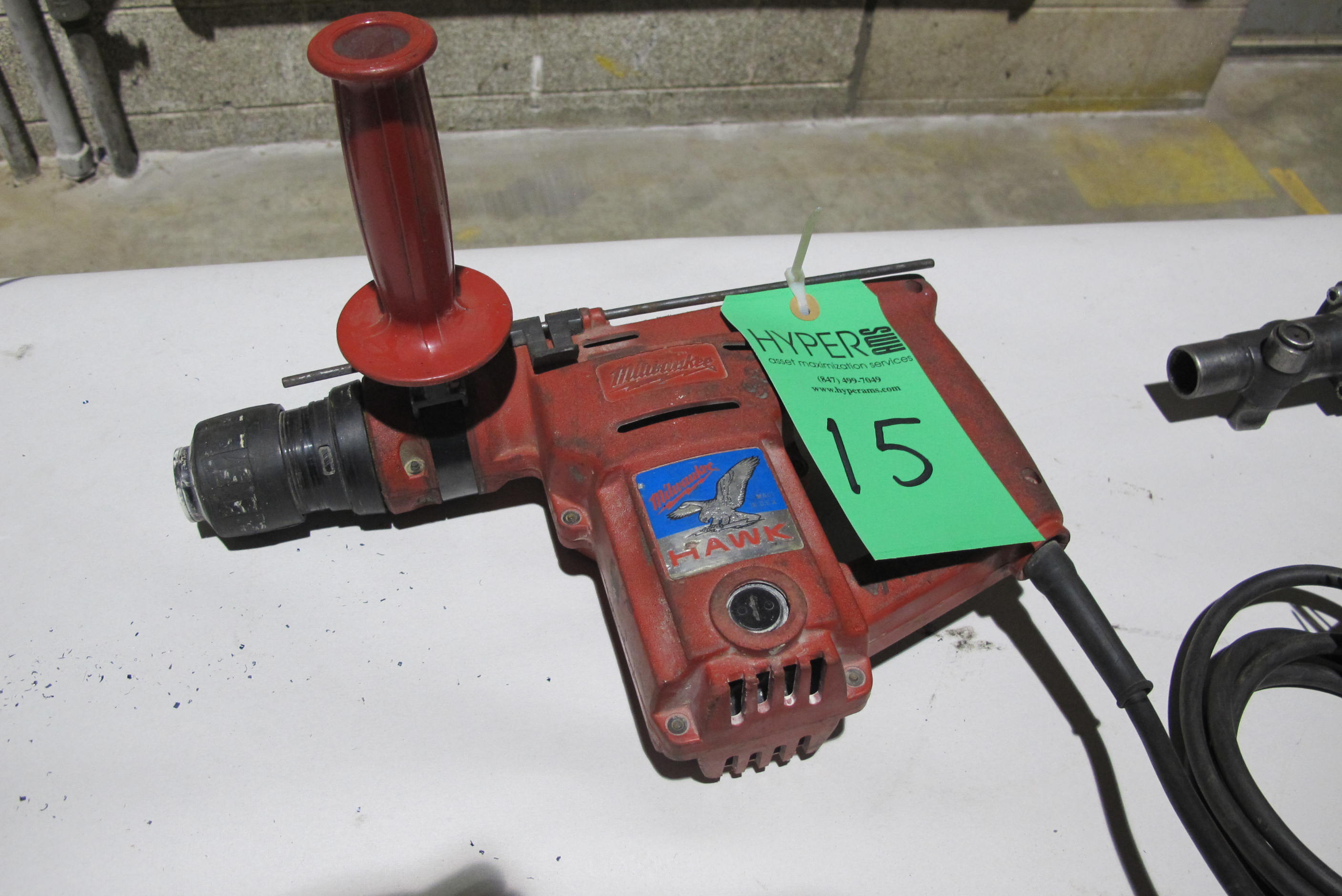 Lot 15 - Milwaukee Cat # 5362-1 Heavy Duty hammer drill