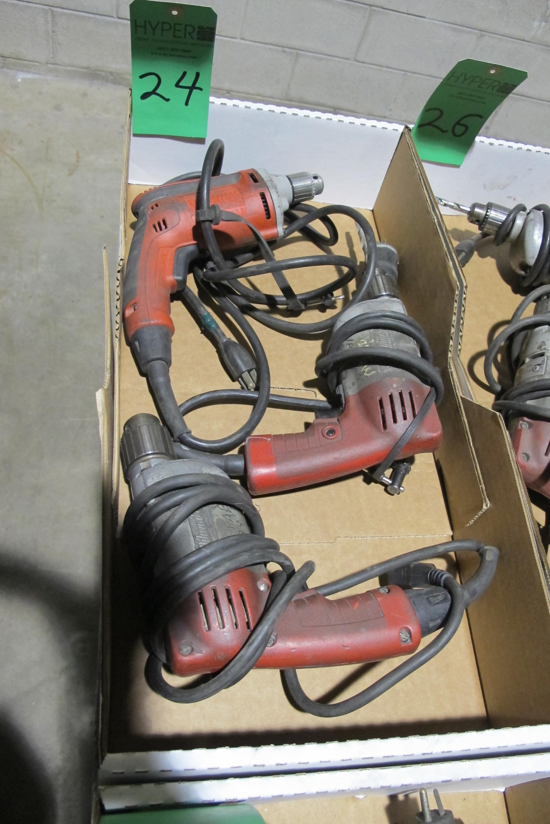 Lot 24 - (3) Milwaukee Drills