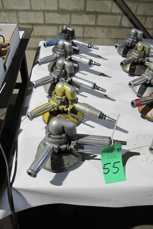 Lot 55 - (5) Pneumatic grinders/buffers