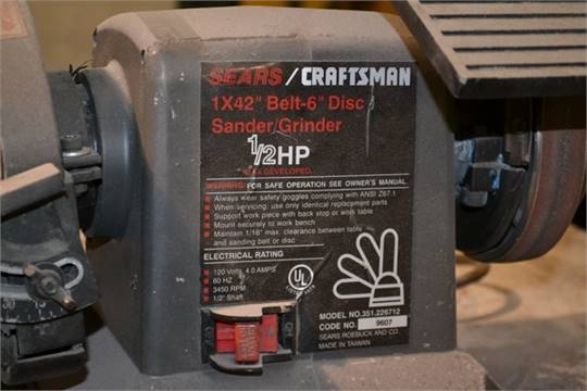craftsman belt and disc sander. next craftsman belt and disc sander