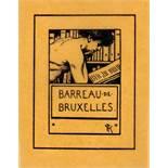 Exlibris - Fernand Khnopff. Barreau de Bruxelles.Lithographie. 1898. 6,4 : 4,9 cm (8,3 : 6,5 cm). Im