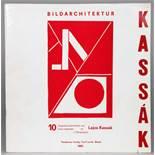 Lajos Kassàk. Bildarchitektur.Zehn Linolschnitte und eine Farbserigraphie. 1922/1965. 30,5 : 30,0