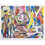 Manfred Henninger. Ballett.Sechs Farbserigraphien. 1976. 60,0 : 75,0 cm. Signiert, betitelt und