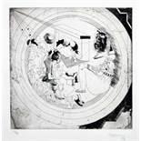 Jorge Castillo. Pornographisme.Zehn Radierungen. 1972. 41,5 : 37,5 cm. Signiert. Stuttgart, Manus