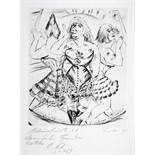 Paul Kleinschmidt. Zirkustänzerinnen.Radierung. 1928. 29,7 : 24,5 cm (43,0 : 36,0 cm). Signiert,