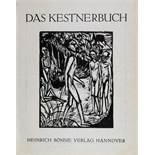 Erich Heckel. Männer am Strand.Holzschnitt. 1919. 17,5 : 13,4 cm. Gedruckt vom Originalstock. -
