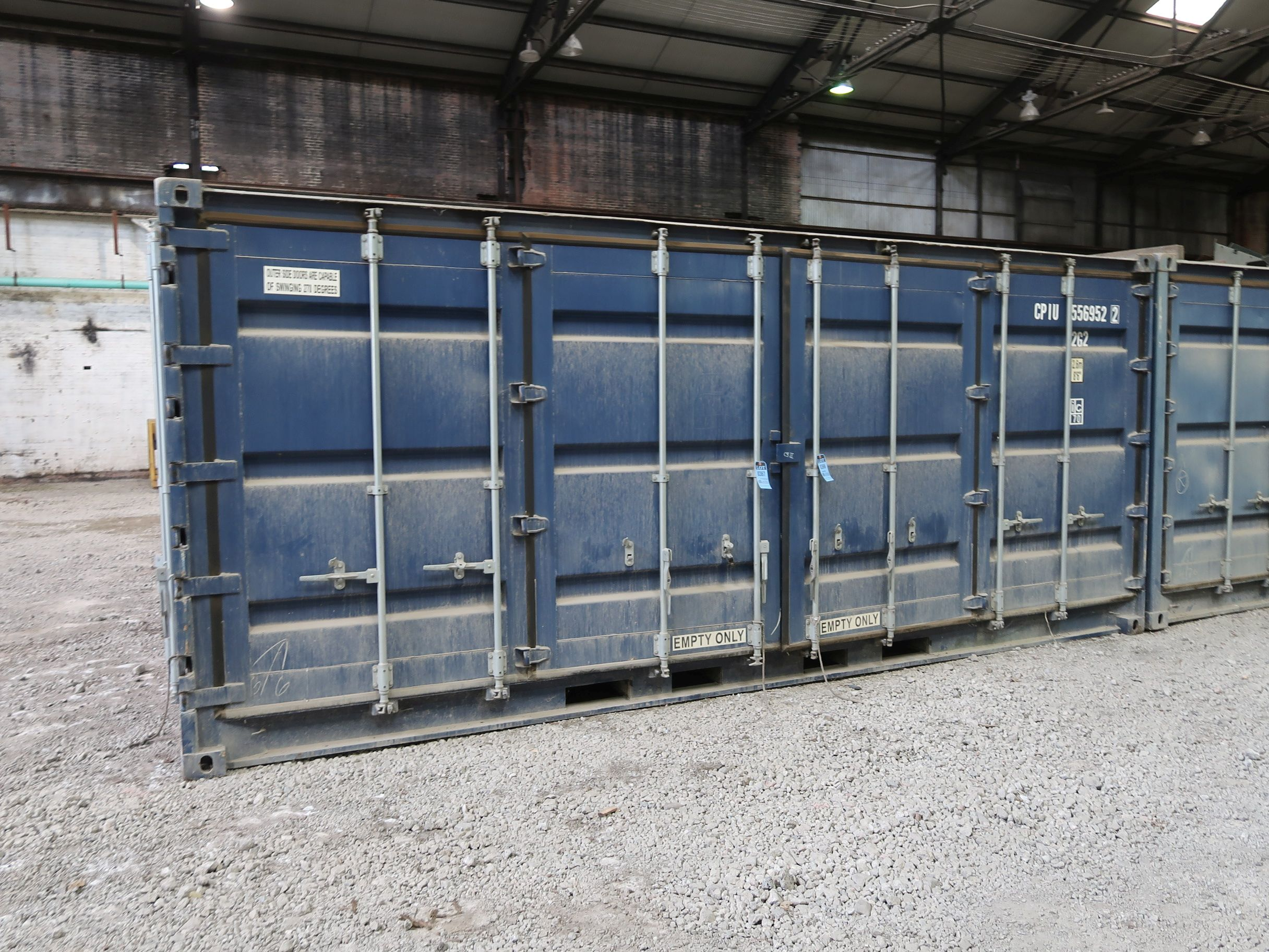 Lot 367 - 8' X 20' CONTAINER PROVIDERS INTL CONEX SHIPPING CONTAINER, 1094 CU. FT. STANDARD END DOOR AND
