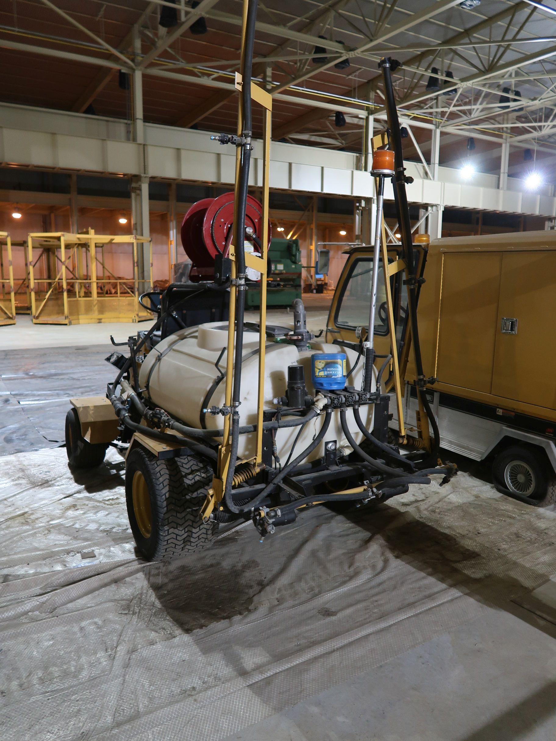 Lot 571 - TORO MODEL 41105 MULTI-PRO 1100 GASOLINE POWERED RIDE ON SPRAYER; S/N 30336, 16' BOOM, 3-SPEED,