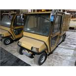"INGERSOLL RAND / CLUBCAR CARRYALL 6 ELECTRIC ENCLOSED REAR MAINTENANCE CART; S/N J0531-528157, 48"" X"