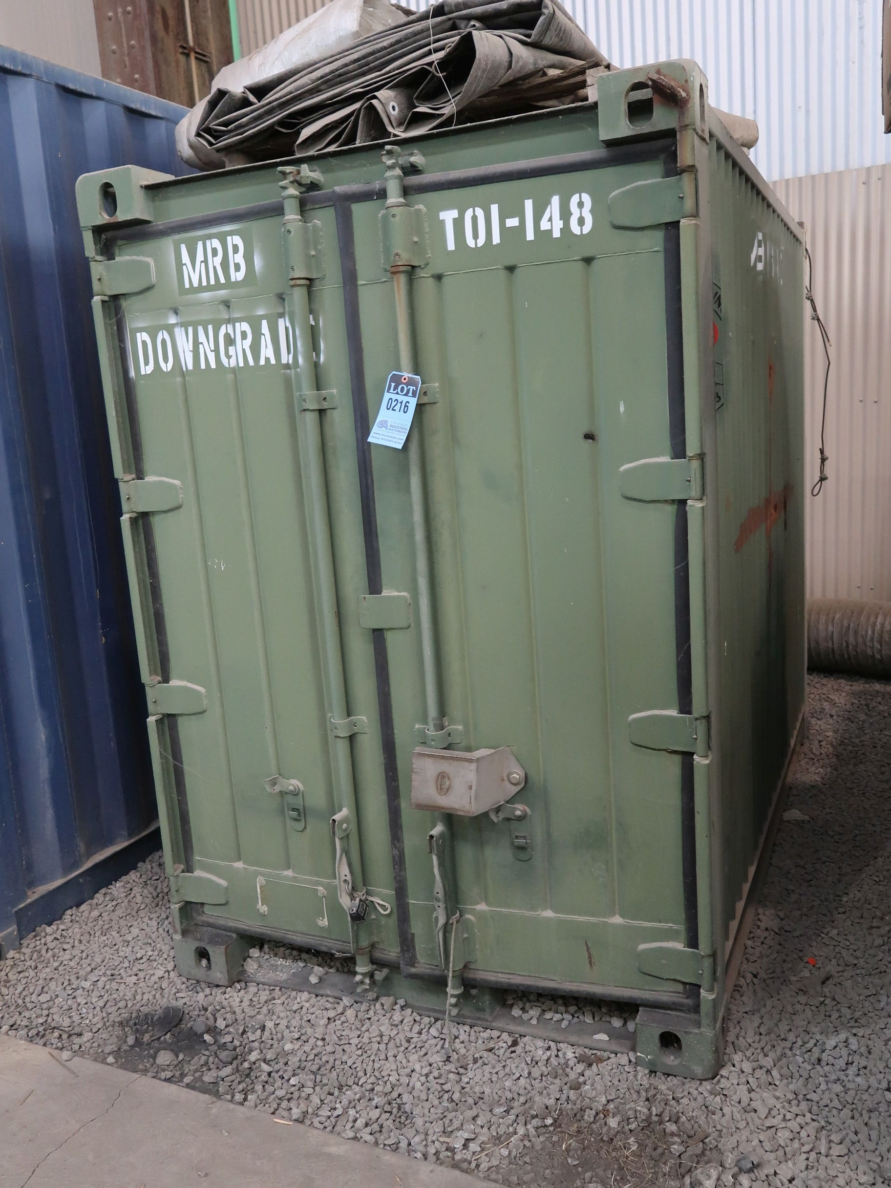 """Lot 216 - 57"""" X 96"""" X 82"""" X 563 CU. FT. CONEX STORAGE CONTAINER WITH DOORS ON EACH END"""