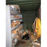 (LOT) CONTENTS OF SHIPPING CONTAINER INCLUDING HARDWARE, TOOLING AND EXTENSION CORDS