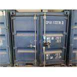 "86"" X 96"" X 89"" X 351 CU. FT. CONEX STORAGE CONTAINER WITH STANDARD DOOR"