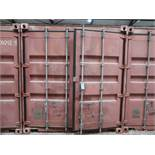 8' WIDE X 20' LONG CHARLESTON MARINE CONEX STORAGE CONTAINER WITH CONTENTS SAFETY HARNESSES, CHAIRS,