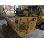 """TAYLOR-DUNN MODEL B4-2500 PROPANE POWERED FLAT BED PERSONNEL CART; S/N 159509, 38"""" X 42"""" BED, 3-"""