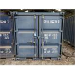 7' WIDE X 8' LONG CONEX STORAGE CONTAINER, 351 CU. FT. WITH MISCELLANEOUS STEEL PLATES