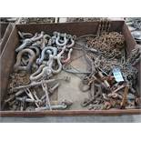 (LOT) MISCELLANEOUS CHAIN BINDERS, LIFTING CHAINS, AND SHACKLES