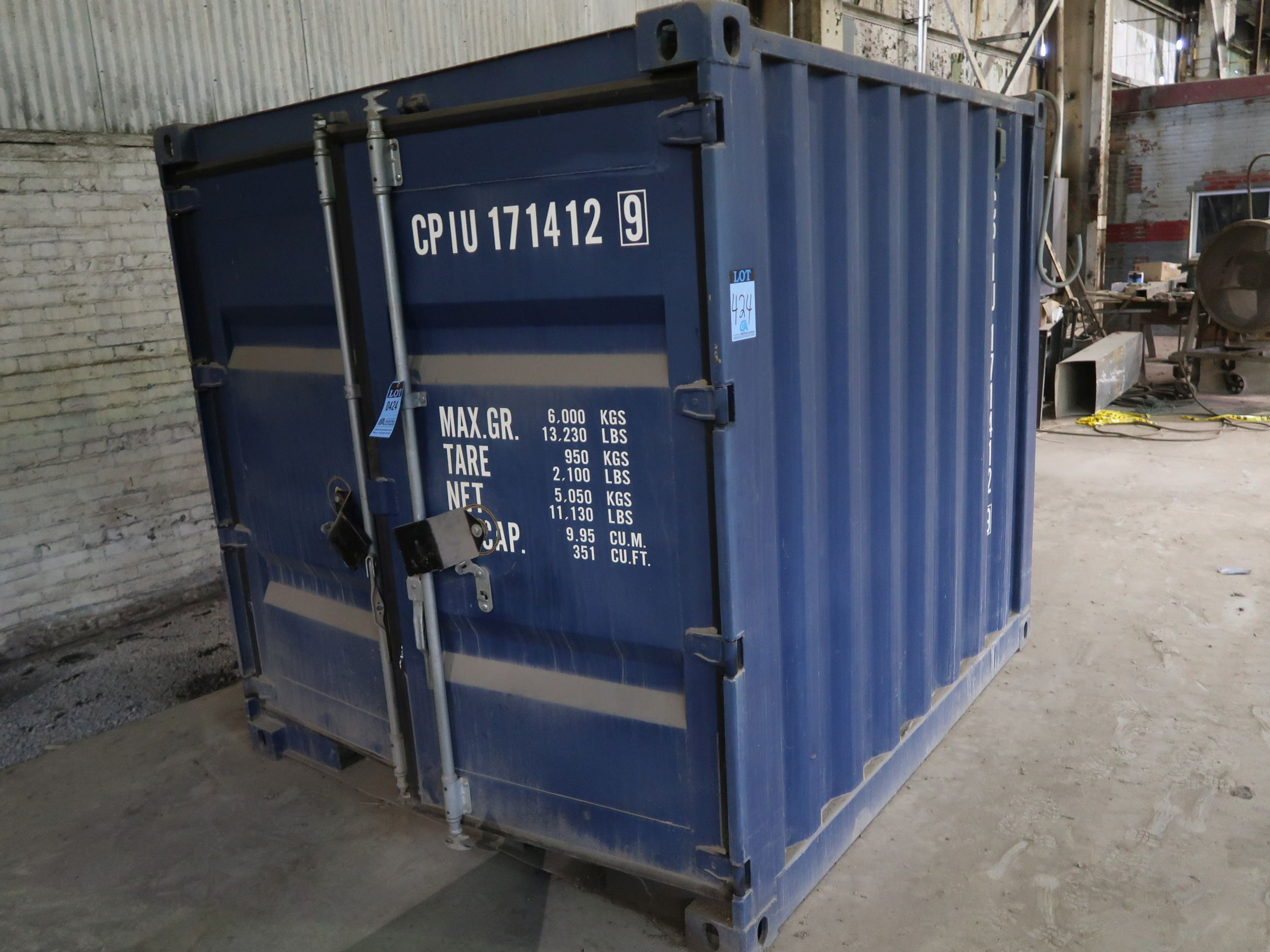 Lot 424 - 7' X 8' CONEX CONTAINER, 351 CU. FT.