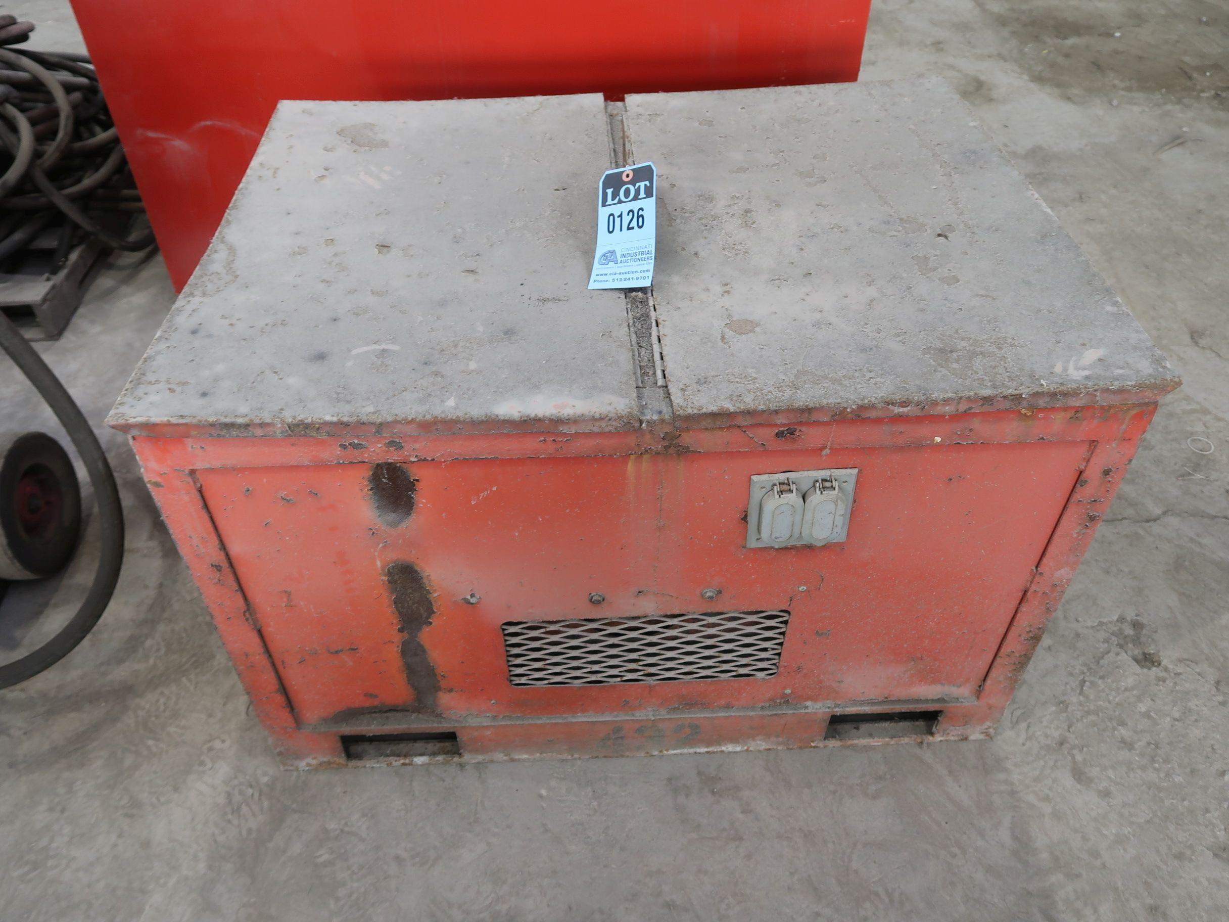 Lot 126 - 5,000 WATT HOMELITE CABINET ENCLOSED GAS POWERED GENERATOR