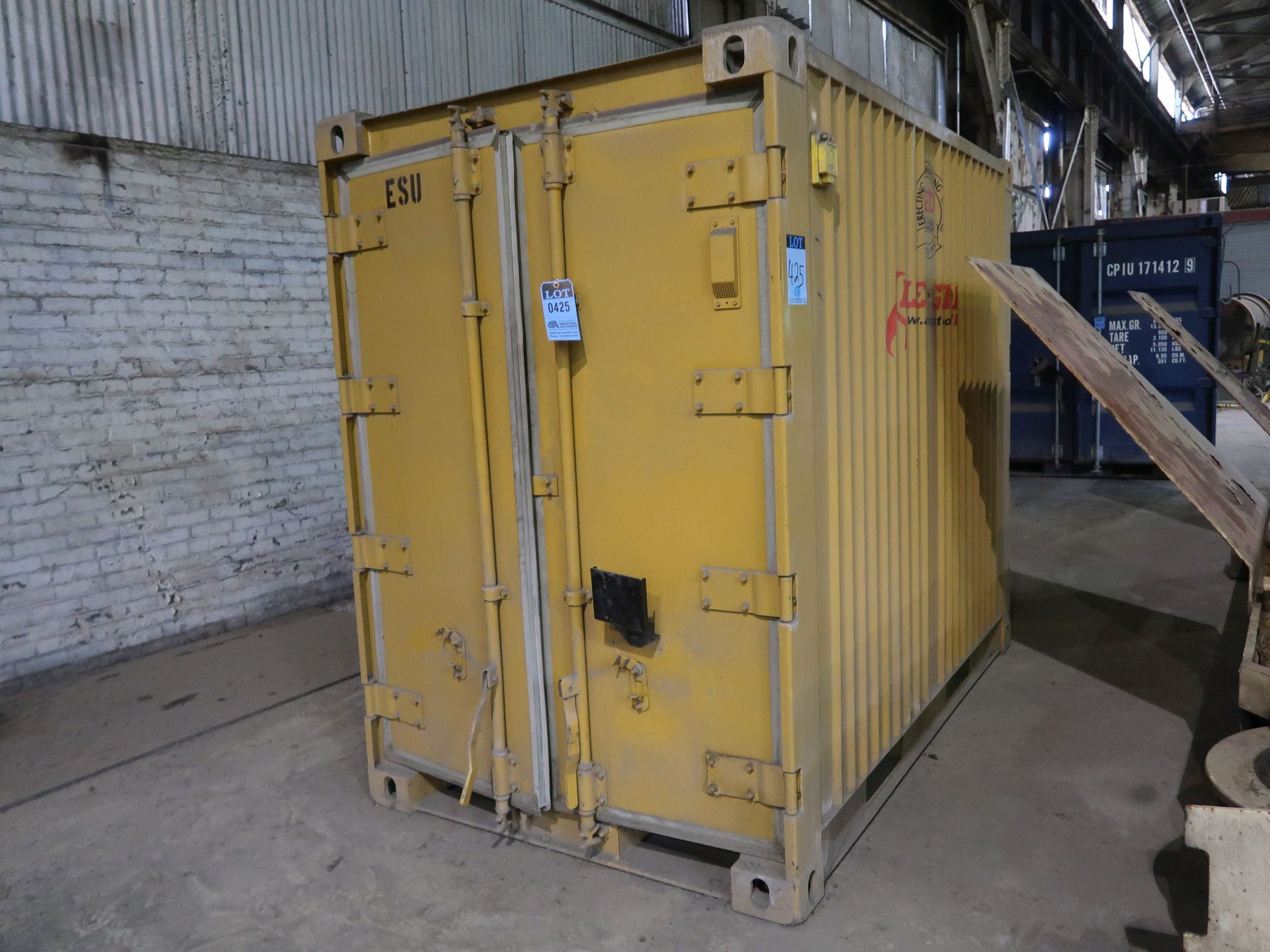 "Lot 425 - 56"" X 96"" CONEX CONTAINER - YELLOW"